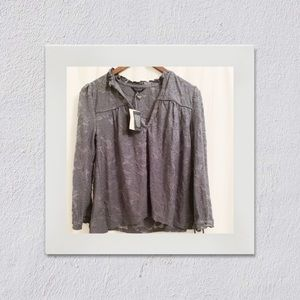Lucky Brand - blue floral blouse - NWT -XS